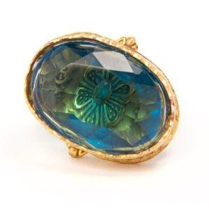 Butterfly Lagoon Ring // Handmade // 8.5